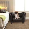 PU Leather Durable Pet Sofa Dog Puppy Sleeping Bed