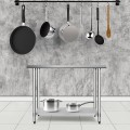 """30"""" x 48"""" Stainless Steel Commercial Kitchen Food Prep Table"""