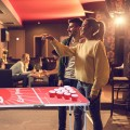 8 ft Indoor Outdoor Portable Folding Beer Pong Camping Table