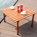Folding Wooden Camping Roll Up Table with Carrying Bag for Picnics and Beach