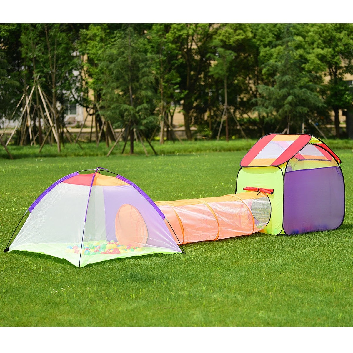 3 In 1 Folding Pop Up Kids Play Tent Playhouse - Play ...