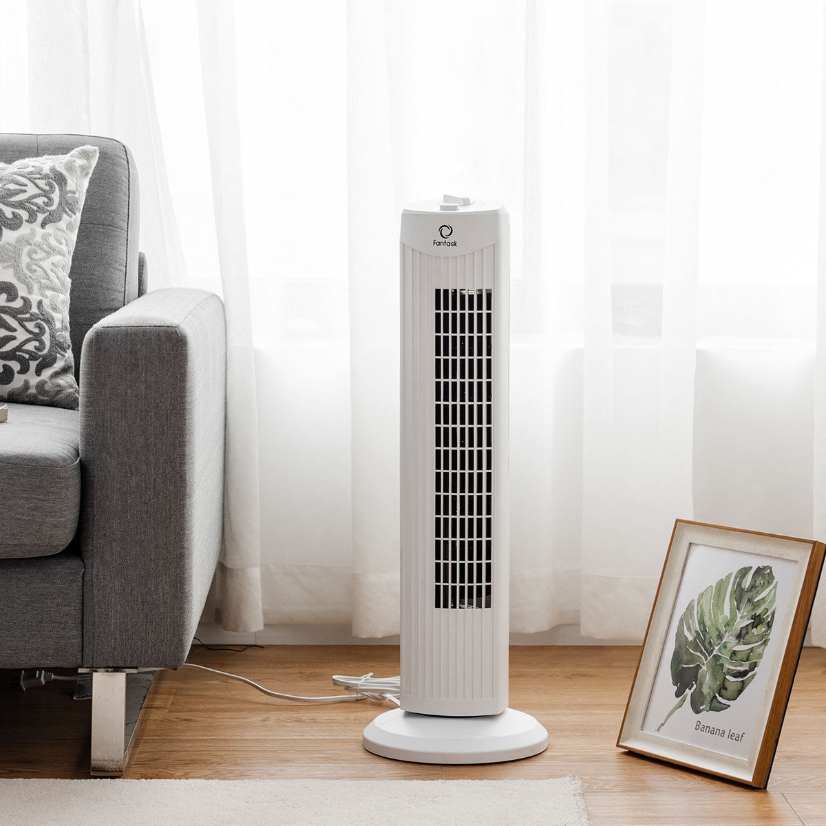 """Image of """"Fantask 35W 28"""""""" Quiet Bladeless Oscillating Tower Fan"""""""