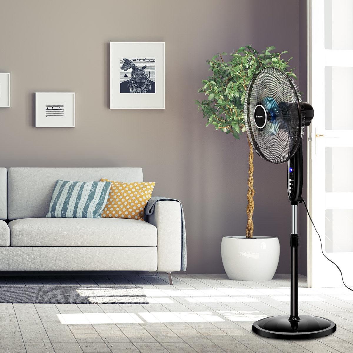 """Image of """"16"""""""" Adjustable Oscillating Pedestal Stand Fan """""""