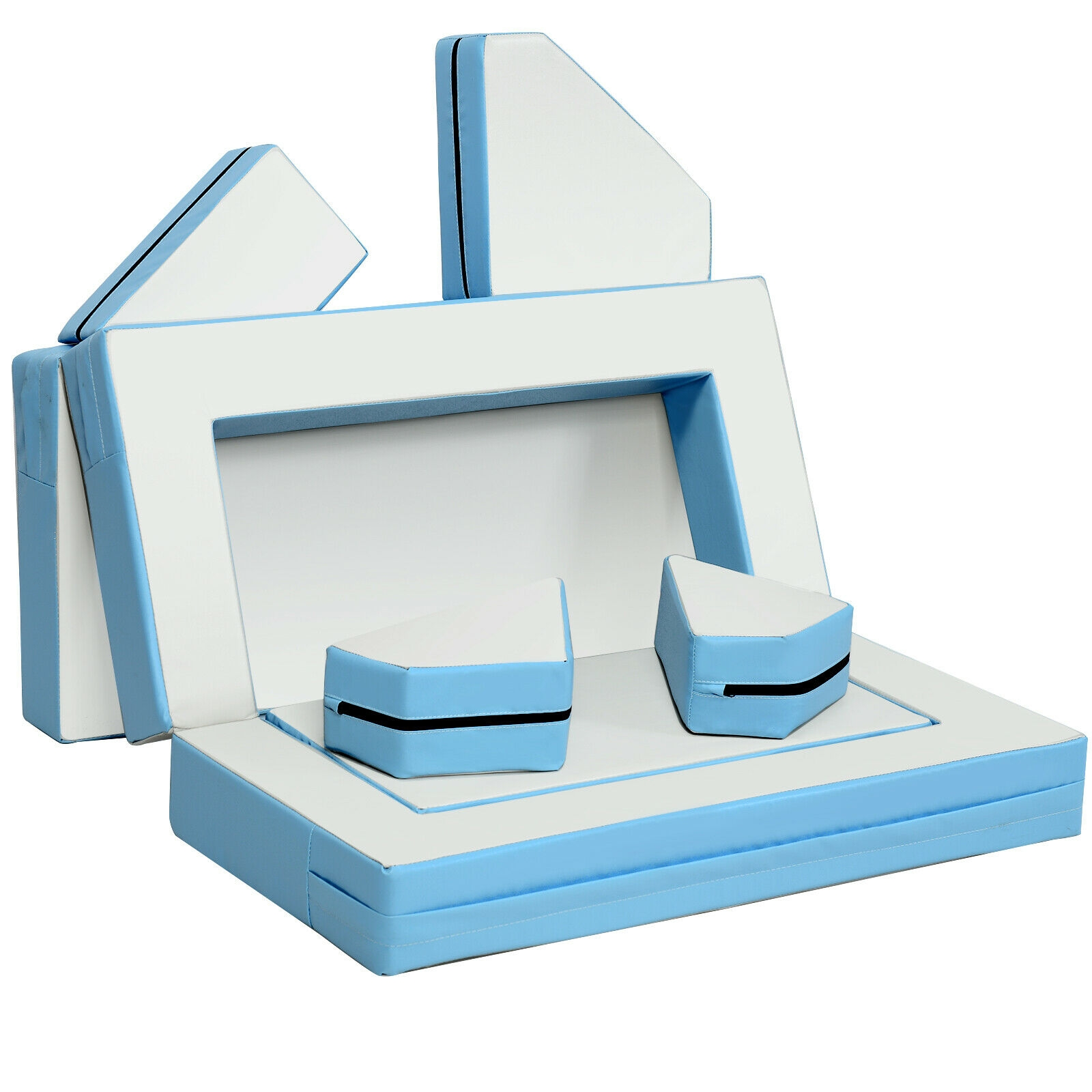 Image of 4-in-1 Crawl Climb Foam Shapes Toddler Kids Playset