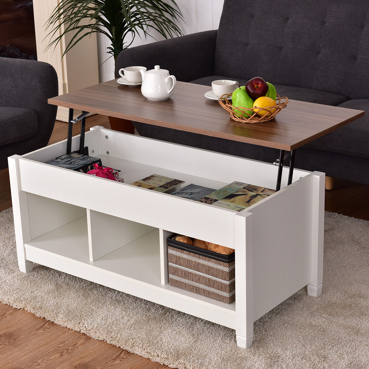 Lift Top Coffee Table With Hidden Storage Compartment Coffee Tables Accent Tables Tables Furniture