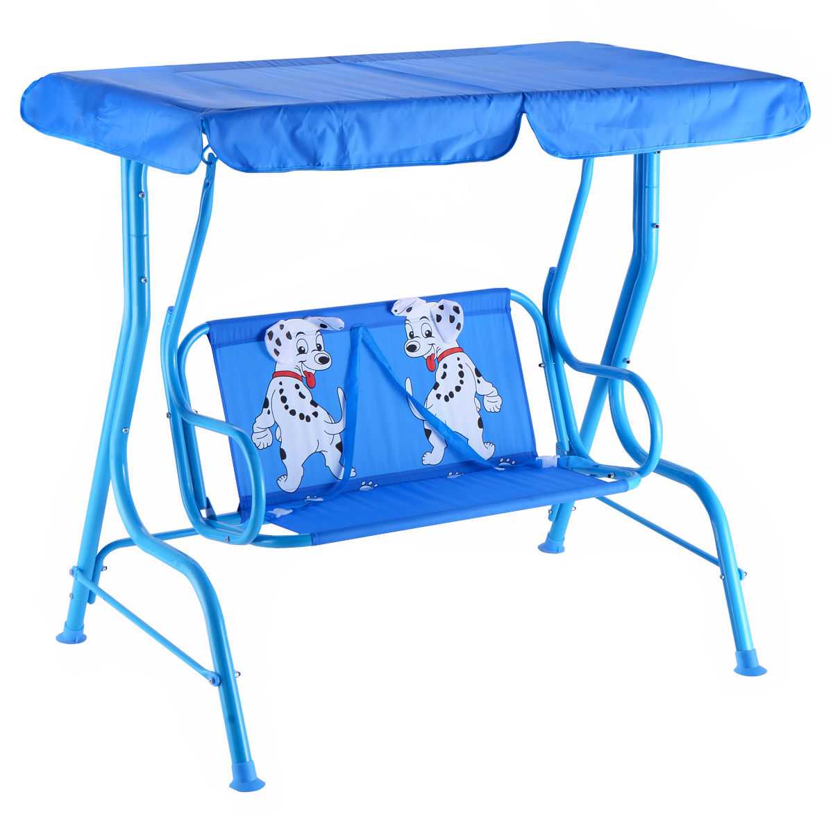 Image of Outdoor Kids Patio Swing Bench with Canopy 2 Seats