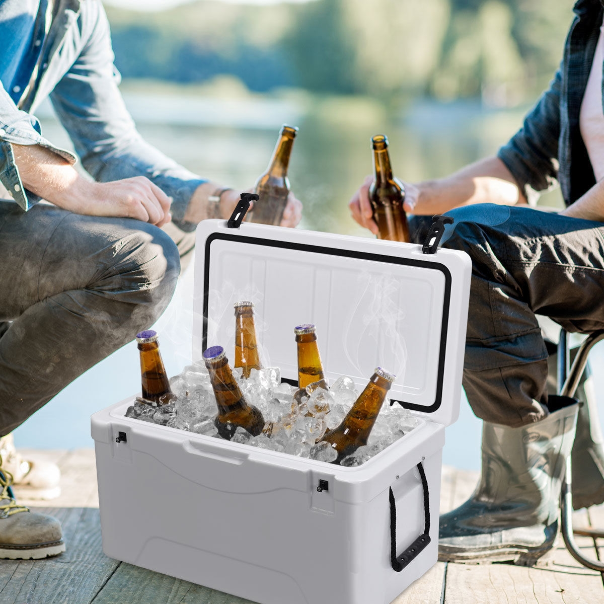 Image of 64 Quart Heavy Duty Outdoor Insulated Fishing Hunting Ice Chest