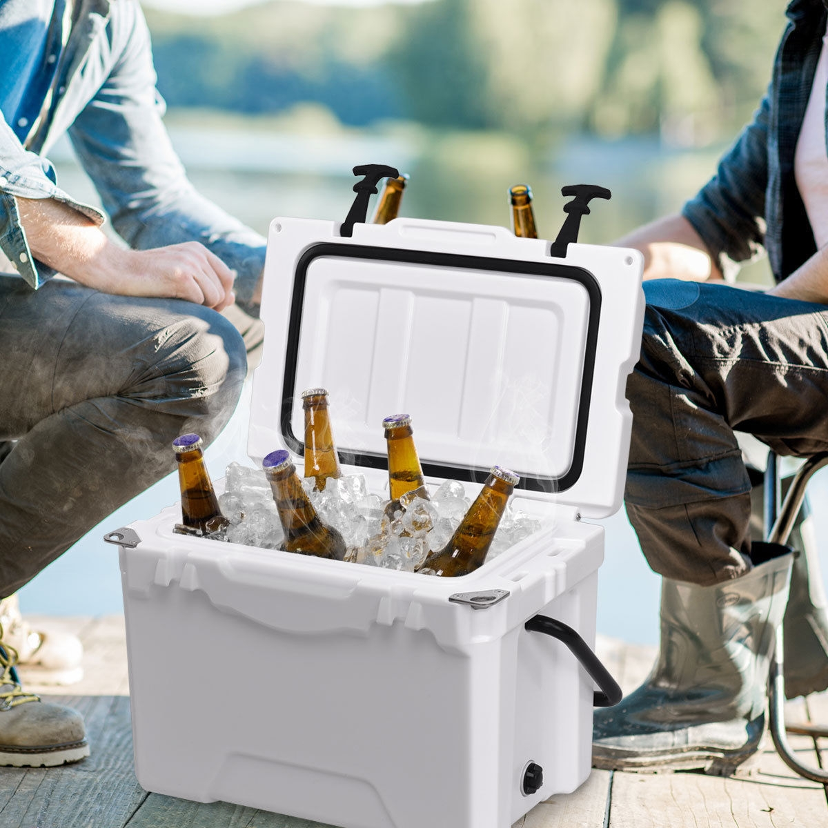 Image of 20QT Handle Lockable Fishing Camping Cooler Ice Chest