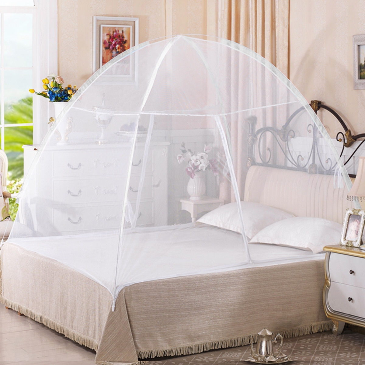 Image of Portable Folding Anti Zipper Bed Mosquito Net