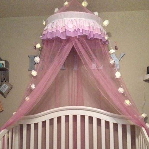 Image of Elegant Lace Princess Round Dome Bedding Net