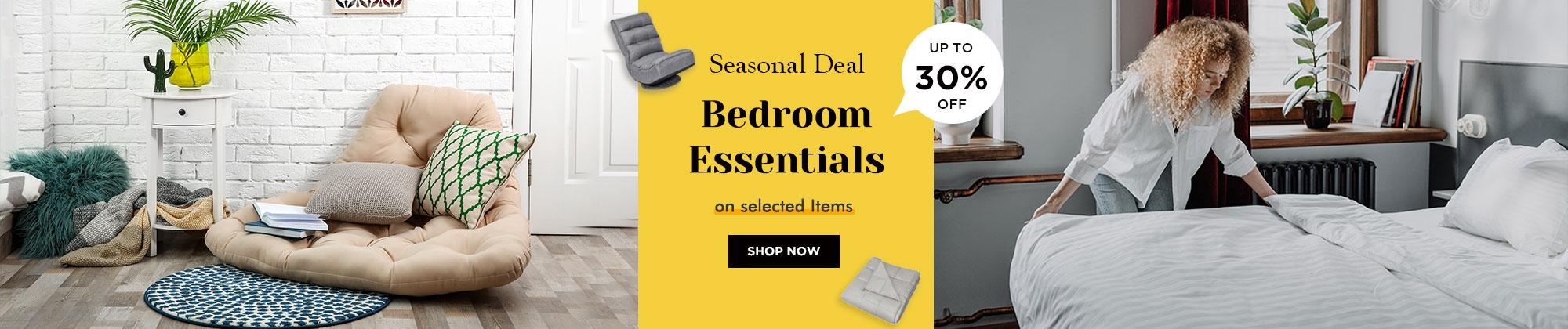 bedroom essentials up to 30% off